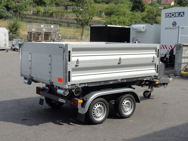 Abroll-Alupritsche 70 251x177x70cm für Hakengerät
