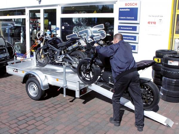 Motorradanhänger 150x250cm 750kg Typ U6M - Angebot