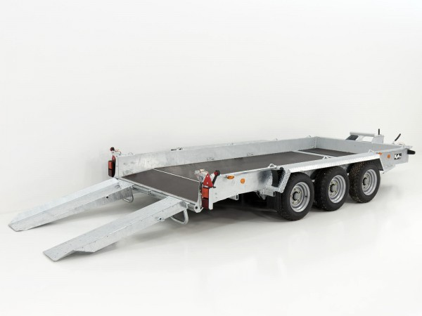 Baumaschinenanhänger GH146 Skids 184x419cm 3,5t Holz Boden 3 Achser Ifor Williams