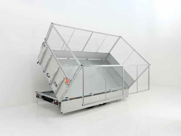 Multidreiseitenkipper VMDK 185x350cm 3,5t Ladefläche kippbar, Gitteraufsatz