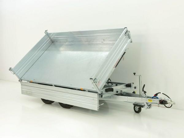 Dreiseitenkipper PDK *Stahlbordwände* 176x310cm 3,0t E-Pumpe