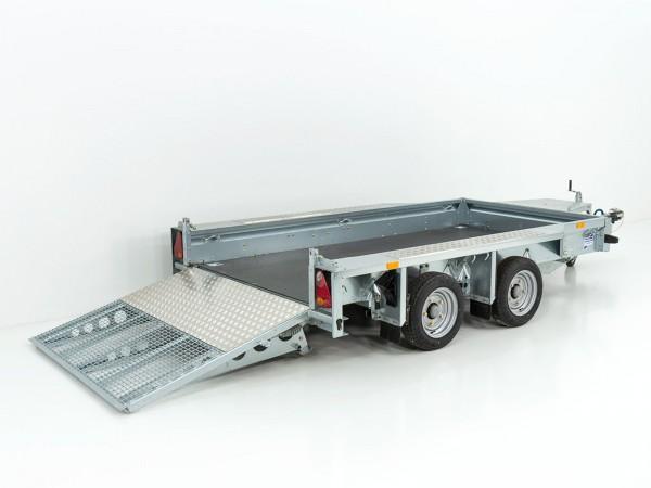 Baumaschinenanhänger GX105 157x303 2,7t mit Auffahrrampe VORRÄTIG
