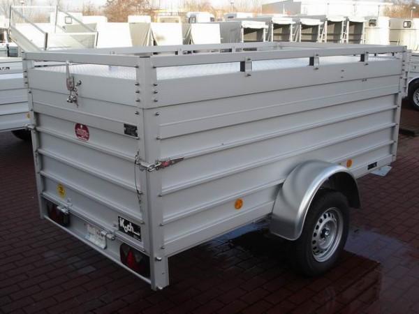 Deckelanhänger 125x250cm 750kg + Deckel Höhe:80cm U4