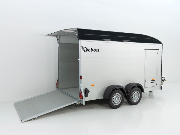 Kofferanhänger Cargo XL 167x370 H200 2,6t Alu, Polybug, Tür, anthrazit