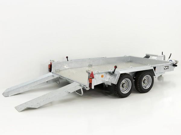 Baumaschinenanhänger GH106 Skids 184x305cm 3,5t Alu Boden