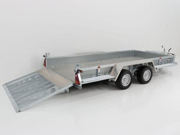 Baumaschinenanhänger Maxi Load 180x400 3,5t mit Rampe, Aluboden