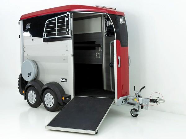 Pferdeanhänger HBX 403|Frontausstieg|neues Modell|rot|Ifor Williams