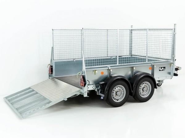 Baumaschinenanhänger GD 85 158x250 2,7t mit Rampe / Gitteraufsatz