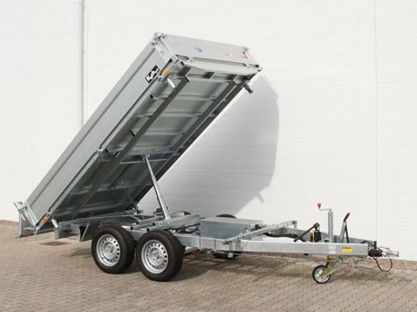 Dreiseitenkipper UDK Profi 175x306cm 2,6t E-Pumpe+Rampentunnel