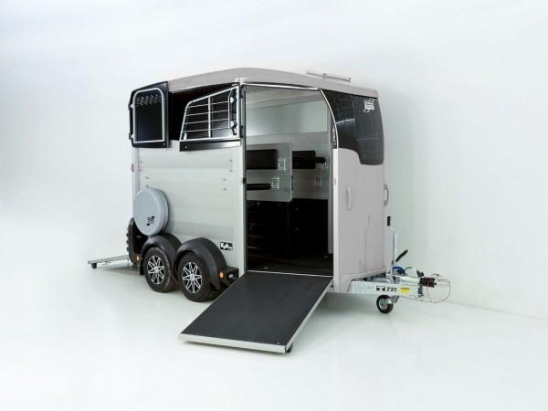 Pferdeanhänger HBX 506 mit Frontausstieg neues Modell silber