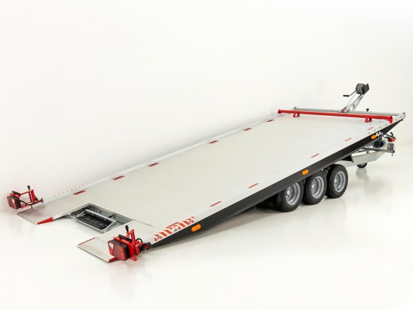 Autotrailer Race Master Alu 208x550cm Tridem 3,5t|Vezeko