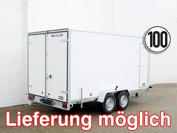 Kofferanhänger BK 200x400cm Höhe:190cm 2,7t 100kmh Seitentür