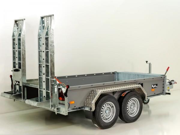 Baumaschinenanhänger BA 155x302cm 3,5t HB Schwenk-Rampen grau Vezeko