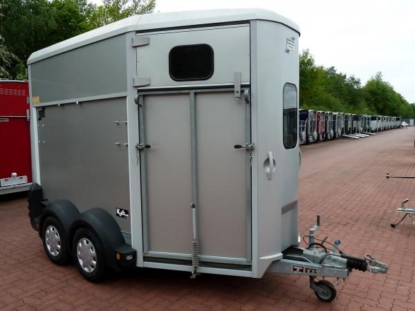 Pferdeanhänger HB506 mit Frontausstieg, silber-gebraucht