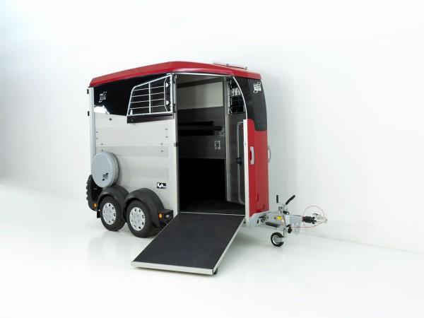 Pferdeanhänger HBX 403 mit Frontausstieg neues Modell rot