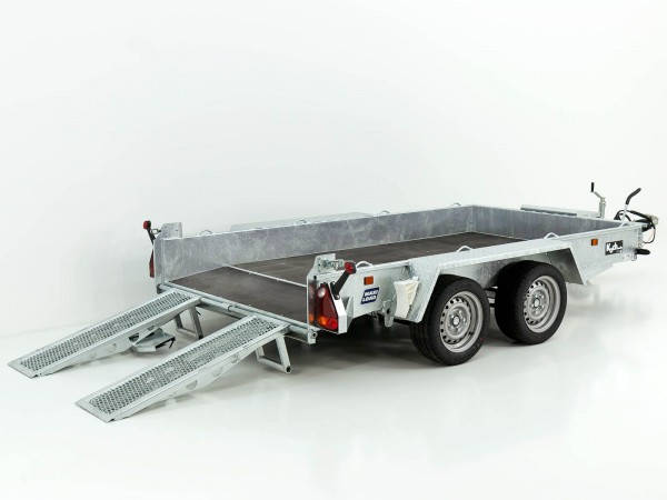 Baumaschinenanhänger Maxi Load 161x305 3,5t|Skids|Beavertail Heck|Variant