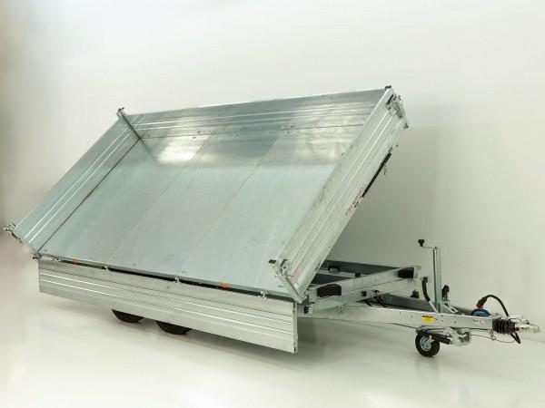 Dreiseitenkipper PDK *Stahlbordwände* 204x410cm 3,5t E-Pumpe