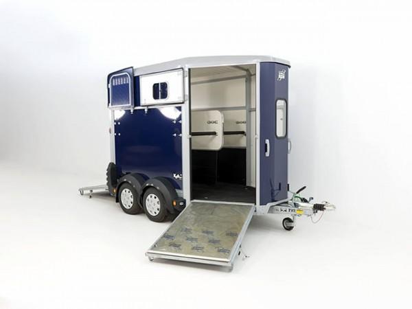 Pferdeanhänger HB506 mit Frontausstieg, blau