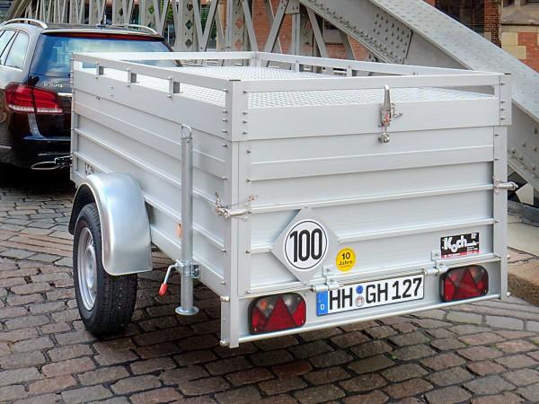 Koch-Anhänger 125x250cm 750kg U4 Deckel 15cm Bordwanderhöhung