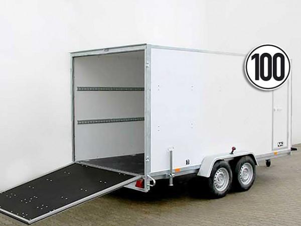 Kofferanhänger BK 200x400cm Höhe:190 2,7t Rampe und Seitentür