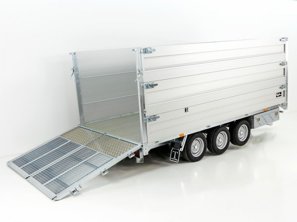 Multi-Heckkipper TR35-40 3,5t 192x402x140cm TridaX Twintrailer