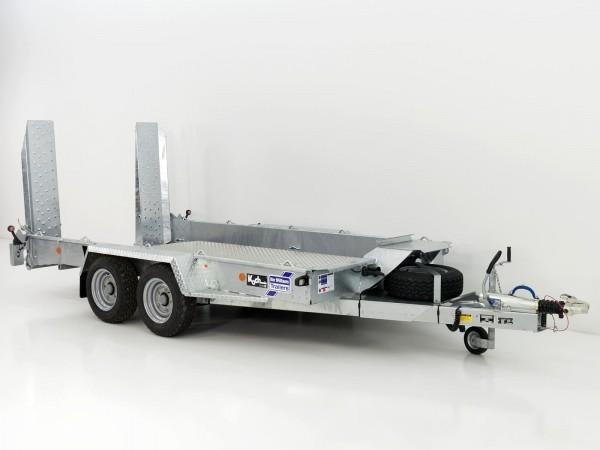 Baumaschinenanhänger GH126 Skids 184x366cm 3,5t Alu Boden