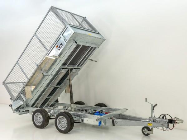 Heckkipper TR 3000 150x300cm 3,0t mit Gitteraufsatz