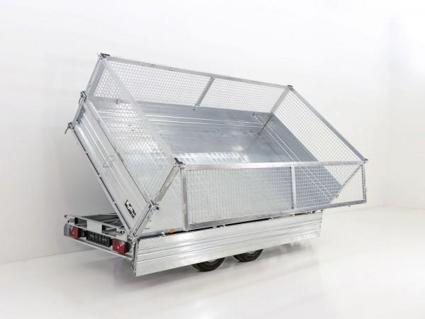 Kipper PDK *Stahlbordwände* 176x360cm 3,5t E-Pumpe + Gitter