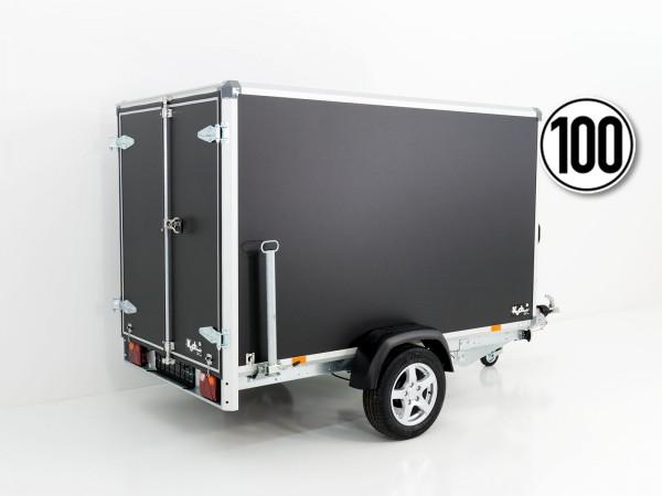 Kofferanhänger Black Edition 148x258cm H:157 1,3t Türen - Aktion