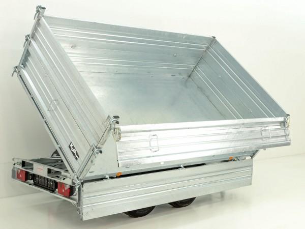 Dreiseitenkipper PDK *Stahlbordwände* 176x360cm 3,0t E-Pumpe m. BWA