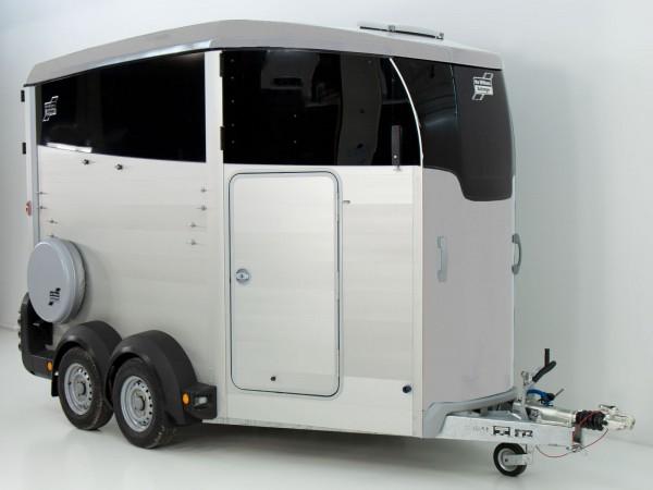 Pferdeanhänger HBX 506 mit Sattelkammer neues Modell silber