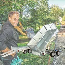 Baumaschinen-Heckkipper-Anhänger