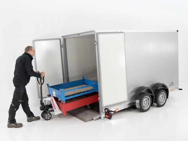 Koffer-Absenkanhänger 155x340cm Höhe:190cm 2,7t
