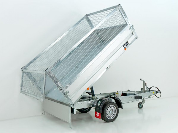 Heckkipper PK 1500 151x260cm 1,5t|Elektro+Gitteraufsatz|Pongratz