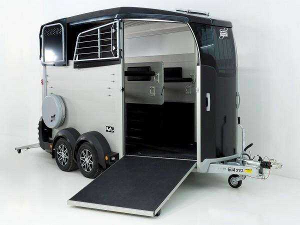 Pferdeanhänger HBX 511 mit Frontausstieg neues Modell schwarz