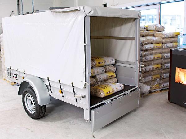 Koch-Anhänger 125x250cm 750kg Typ U4 mit Hochplane 130 cm Hobby - Angebot