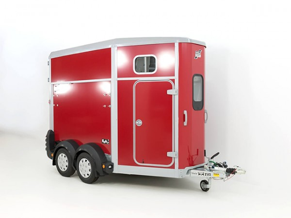 Pferdeanhänger HB506 mit Sattelkammer, rot aus Lager