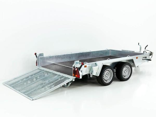 Baumaschinenanhänger Maxi Load 161x305 3,5t mit Rampe, Beavertail Heck