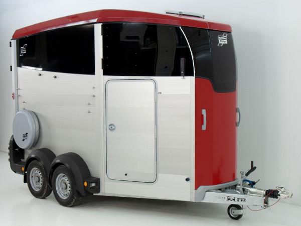 Pferdeanhänger HBX 506 mit Sattelkammer neues Modell rot