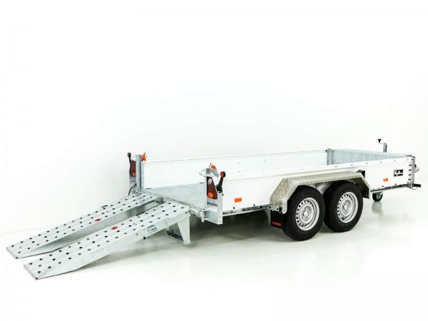 Baumaschinenanhänger BA 155x360cm 3,5t|SB|Schwenk-Rampen|Vezeko