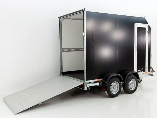 Kofferanhänger VK Sandwich Black 152x305cm Höhe:205cm 2,0t|Rampe|Tür|Schräge|Vezeko