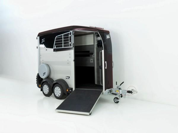 Pferdeanhänger HBX 403 mit Frontausstieg neues Modell schwarz