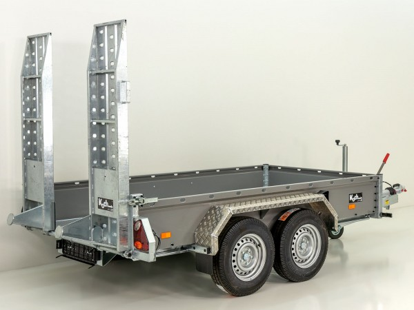 Baumaschinenanhänger BA 175x360cm 3,5t|grau|HB|einzel Rampen|Vezeko