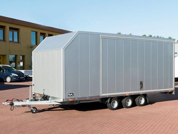 Autotrailer Cargo Race Master 230x560cm Höhe:210cm 3,5t E-Winde, silber