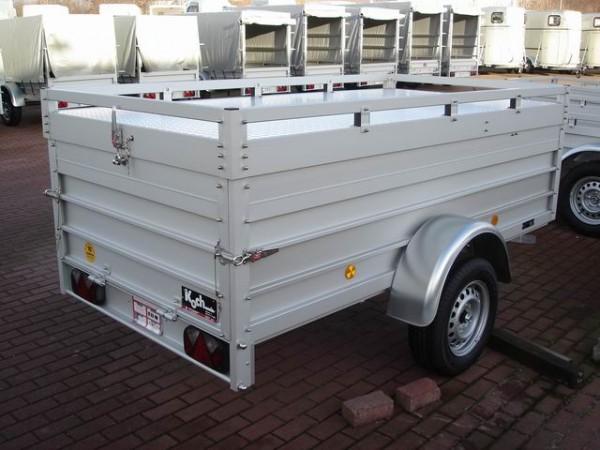 Deckelanhänger 125x250cm 750kg + Deckel, Höhe:65cm, U4