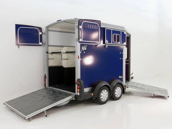 Pferdeanhänger HB511, blau, mit Frontausstieg
