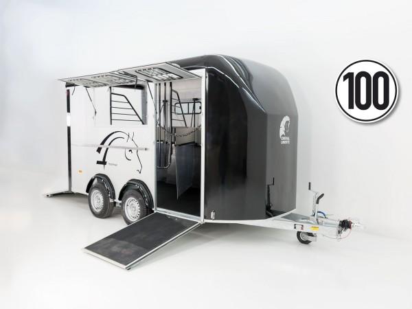 Pferdeanhänger Maxi 3|3 Pferde|Pullmann 2 Fahrwerk|schwarz|Cheval Liberte