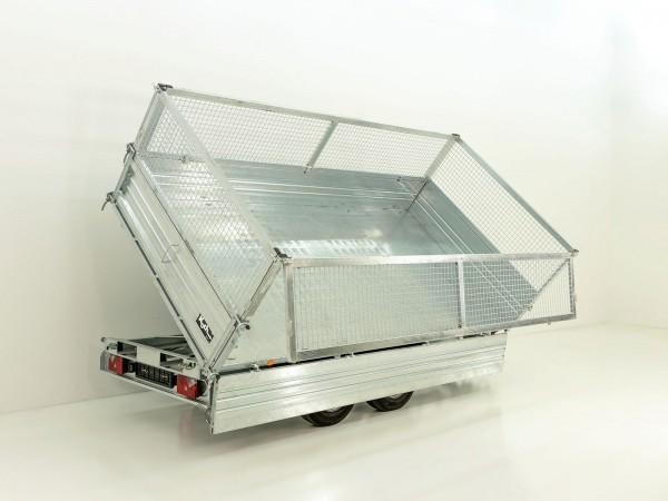 Dreiseitenkipper PDK *Stahlbordwände* 176x310cm 3,5t E-Pumpe +Gitter