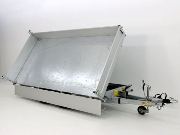 Dreiseitenkipper VDK 210x414cm 3,5t Blattfedern E-Pumpe Rampentunnel