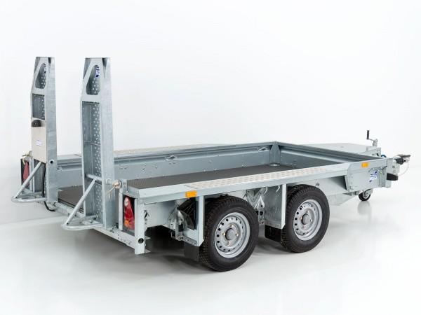 Baumaschinenanhänger GX105 157x303 2,7t mit Auffahrschienen VORRÄTIG